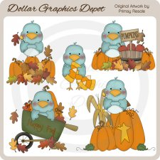 Fall Birdies - Clip Art