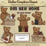 Moving Day Bears - Clip Art