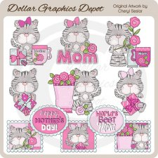 Sweet Kitty - Mother's Day - Clip Art