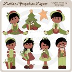 Christmas Kids 2 - Clip Art