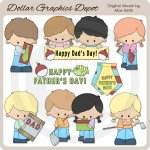 Father's Day Kids 1 - Clip Art