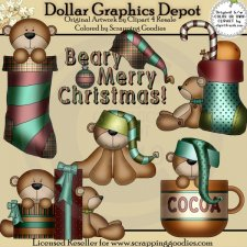 Beary Merry Christmas - Clip Art