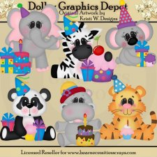 Birthday Animals - Clip Art - *DGD Exclusive