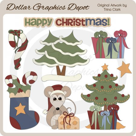 Happy Christmas - Clip Art