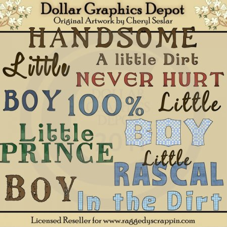 All Boy - Word Art