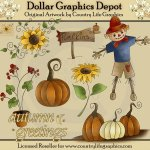 Autumn Greetings - Clip Art