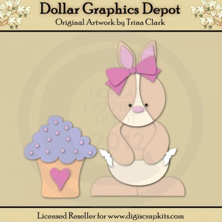 Baby Shower Bunny 2 - Cutting Files / Paper Piecing Patterns