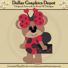 Ladybug Bear 2 - Cutting Files / Paper Piecing - *DGD Exclusive*