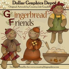 Gingerbread Friends - Clip Art