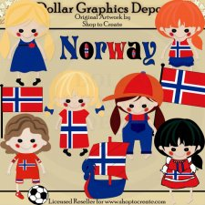 Norwegian Dolls - Clip Art