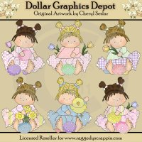 Pretty Girls - Easter - Clip Art�- *DCS Exclusive*