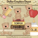 School Bears 1 - Clip Art