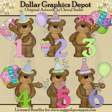 Bab's Birthday Numbers - Clip Art