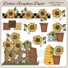 Sunflower Wishes - Clip Art