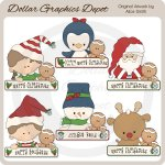 Christmas Greeting Pals - Clip Art - *DGD Exclusive*