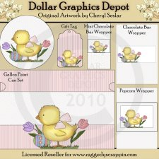 Easter Chick Wrapper Set - Printables