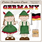 German Kids - Clip Art