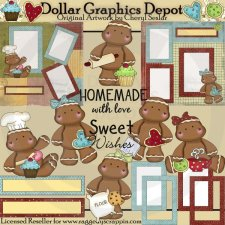 Sweet Gingerbread Wishes Scrap Kit