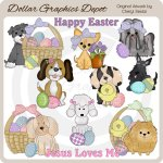 Easter Puppies - Clip Art - *DGD Exclusive*