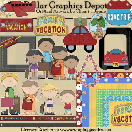 Family Vacation - Scrap Kit