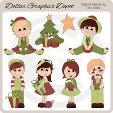 Christmas Kids 1 - Clip Art