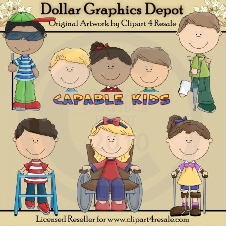 Capable Kids - Clip Art