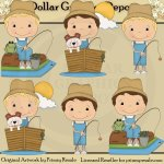 Fishing Friends - Boys - Clip Art