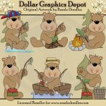 Ole Fishing Bear - Clip Art