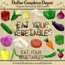 Eat Your Vegetables - Clip Art