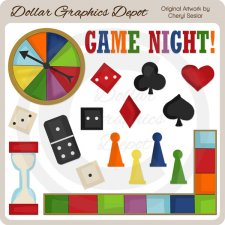 Game Night - Clip Art