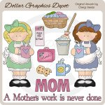 A Mother's Work - Clip Art