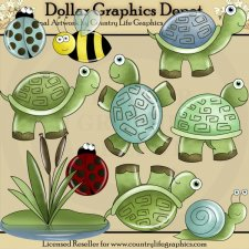 Turtles and Friends - Clip Art