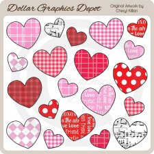 Lots Of Hearts - Clip Art