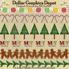 Christmas Dividers - Clip Art