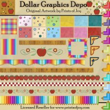 School Daze Backgrounds and Borders
