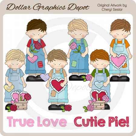 Valentine's Day Boys - Clip Art - *DGD Exclusive*