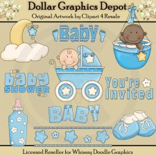Baby Shower - Boy - Clip Art