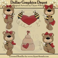 Bee Mine Bears - Clip Art - *DCS Exclusive*