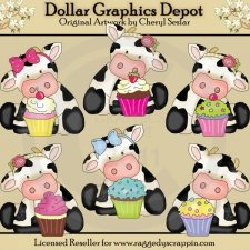 Cute Little Cupcake Cows