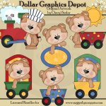 Cutie Bear - All Aboard - Clip Art