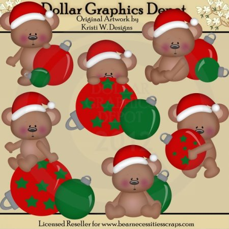 Christmas Bears 1 - Clip Art - *DGD Exclusive*