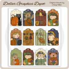 Fall Wishes - Sheet Tags