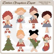 Christmas Fancies 1 - Clip Art