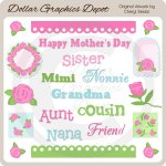 Mother's Day Elements - Clip Art