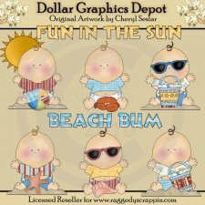 Baby Beach Bums - Clip Art - *DGD Exclusive*
