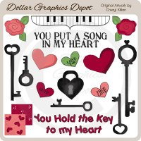 Key To My Heart - Clip Art