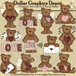 Valentine Love Bears - Clip Art