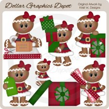 All Wrapped Up Gingers - Clip Art *DGD Exclusive*