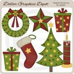 Christmas Felt Accents - Clip Art