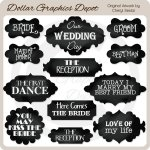 Wedding Day Chalkboard Frames